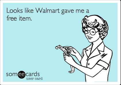 Looks like Walmart gave me a free item.