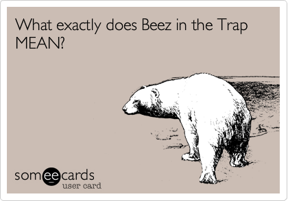 What exactly does Beez in the Trap MEAN?