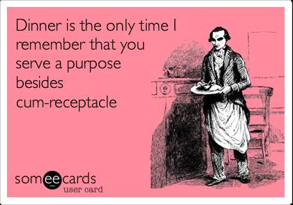 Cum receptacle