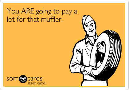 You ARE going to pay a lot for that muffler.
