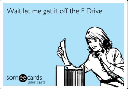 Wait let me get it off the F Drive