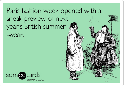 Paris fashion week opened with a sneak preview of next year's British summer -wear.