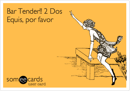 Bar Tender!! 2 Dos Equis, por favor