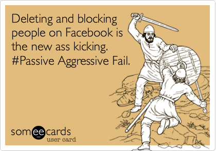 Deleting and blocking