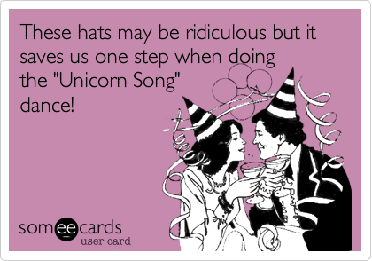 These hats may be ridiculous but it saves us one step when doing