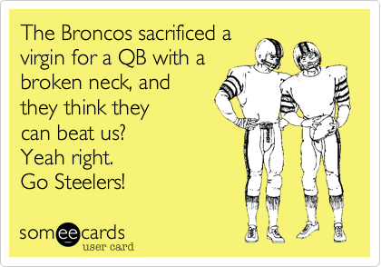 The Broncos sacrificed a