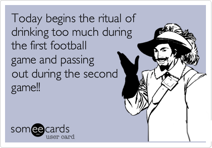 Today begins the ritual of