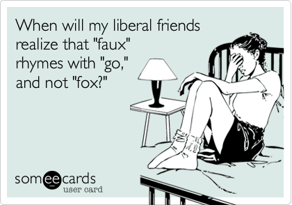 When will my liberal friends