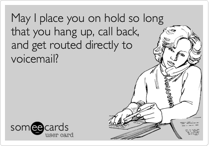May I place you on hold so long