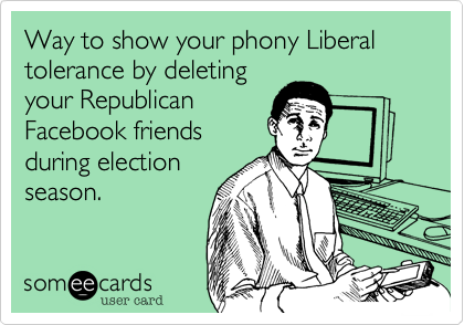 Way to show your phony Liberal tolerance by deleting