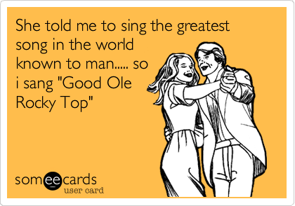 She told me to sing the greatest song in the world