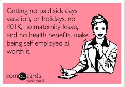 Getting no paid sick days,