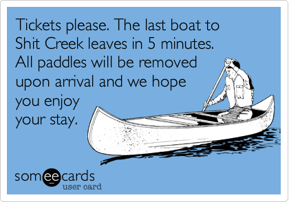 Tickets please. The last boat to 