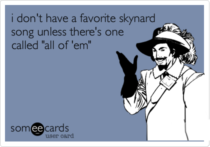 i don't have a favorite skynard 