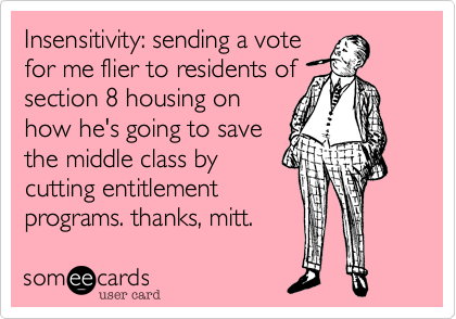 Insensitivity: sending a vote