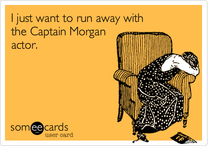 I just want to run away with 