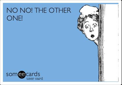 NO NO! THE OTHERONE!