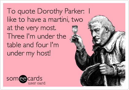 To quote Dorothy Parker:  I