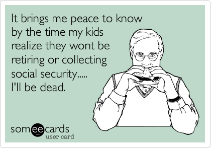 It brings me peace to know 