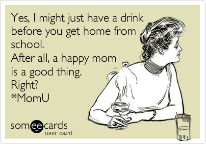 Yes, I might just have a drink