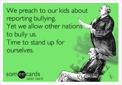We preach to our kids about reporting bullying.