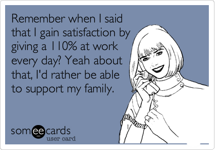 Remember when I said