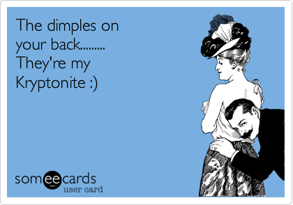 The dimples on 