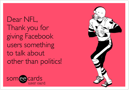 Dear NFL, 