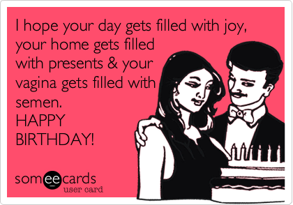 I hope your day gets filled with joy,