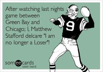 After watching last nights