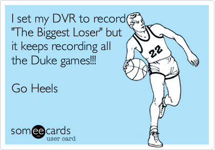 I set my DVR to record