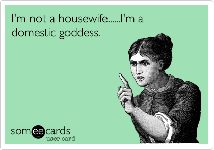 I'm not a housewife......I'm a domestic goddess.
