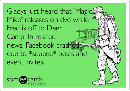 "Gladys just heard that ""Magic