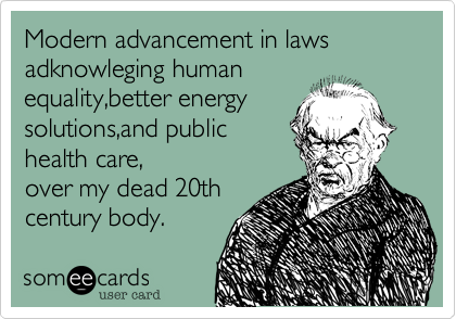 Modern advancement in laws adknowleging human