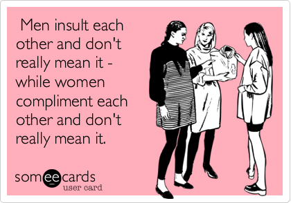 Men insult each