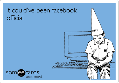 It could've been facebookofficial.