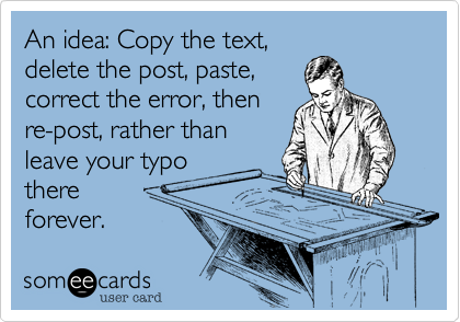 An idea: Copy the text,