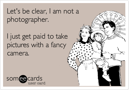 Let's be clear, I am not a