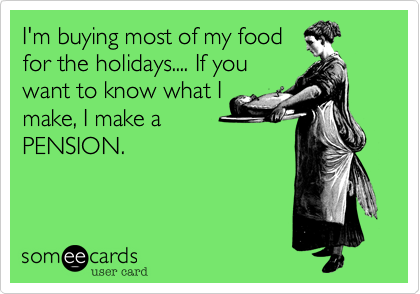 I'm buying most of my food