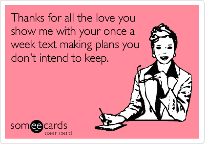 Thanks for all the love you