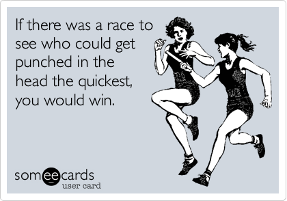 If there was a race to