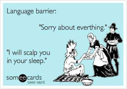 Language barrier: