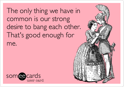 The only thing we have in