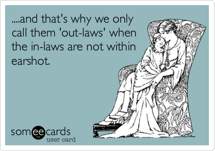 ....and that's why we only