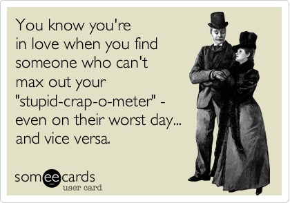 You know you're 