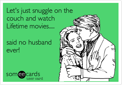Let's just snuggle on the