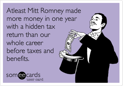 Atleast Mitt Romney made
