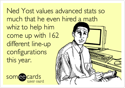 Ned Yost values advanced stats so much that he even hired a math whiz to help him