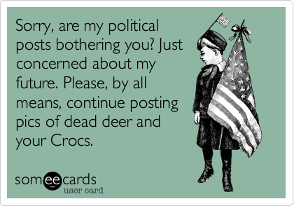 Sorry, are my political