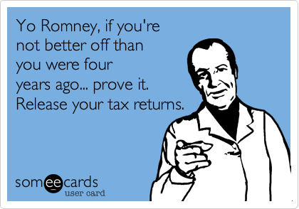Yo Romney, if you're 